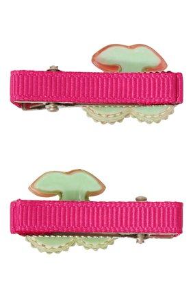 Детская комплект из двух заколок shiny cherry JUNEFEE разноцветного цвета, арт. 5194 | Фото 2
