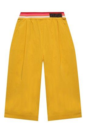 Детские хлопковые брюки FENDI желтого цвета, арт. JFF225/AAC3/3A-6A | Фото 1