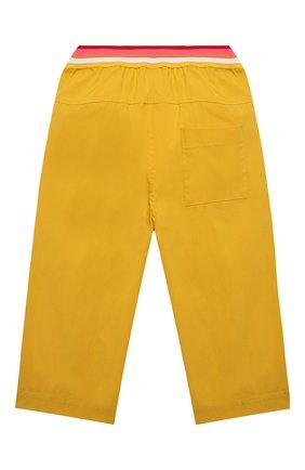 Детские хлопковые брюки FENDI желтого цвета, арт. JFF225/AAC3/3A-6A | Фото 2