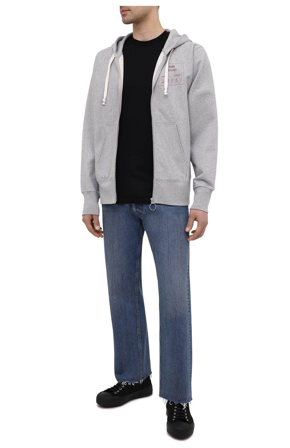 Мужская хлопковая футболка MAISON MARGIELA черного цвета, арт. S50GC0644/S23911   Фото 2 (Рукава: Короткие; Длина (для топов): Стандартные; Стили: Гранж; Принт: С принтом; Материал внешний: Хлопок)