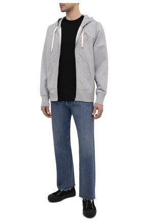 Мужская хлопковая футболка MAISON MARGIELA черного цвета, арт. S50GC0644/S23911 | Фото 2
