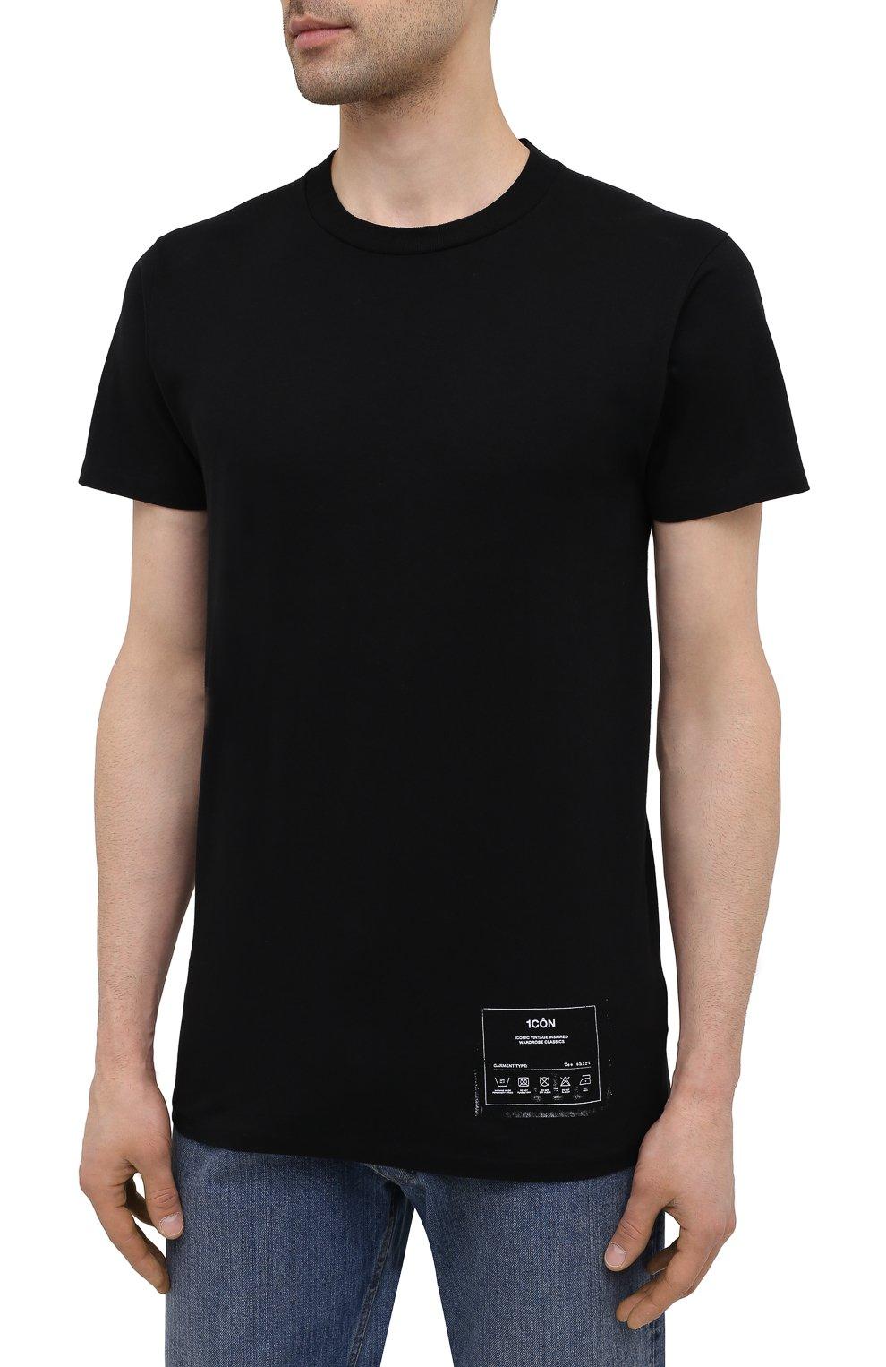 Мужская хлопковая футболка MAISON MARGIELA черного цвета, арт. S50GC0644/S23911   Фото 3 (Рукава: Короткие; Длина (для топов): Стандартные; Стили: Гранж; Принт: С принтом; Материал внешний: Хлопок)