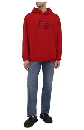 Мужской хлопковое худи MAISON MARGIELA красного цвета, арт. S50GU0163/S25503   Фото 2