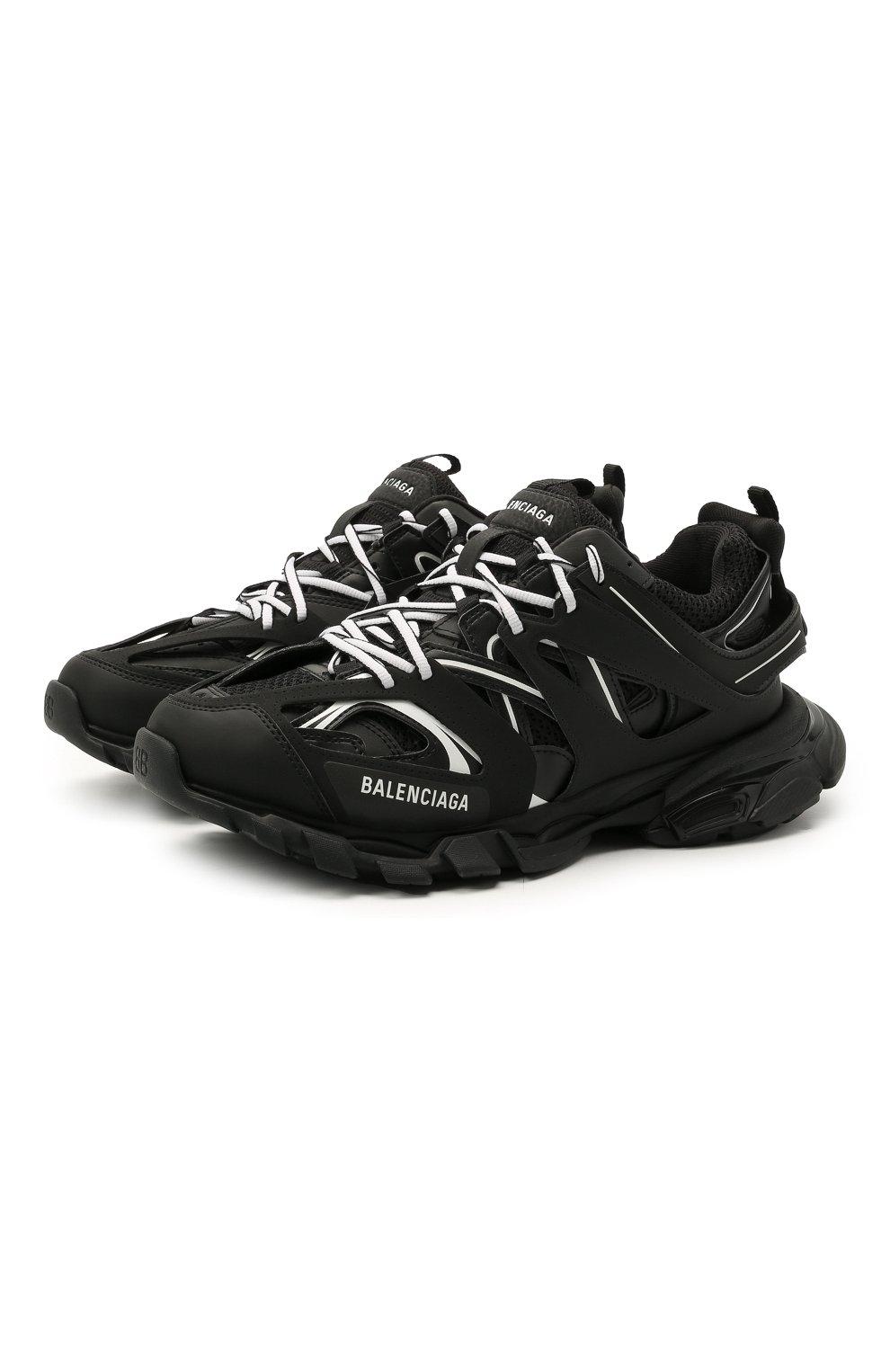 Мужские комбинированные кроссовки track BALENCIAGA черно-белого цвета, арт. 542023/W3AC1   Фото 1 (Материал внешний: Текстиль; Стили: Гранж; Материал внутренний: Текстиль; Подошва: Массивная)