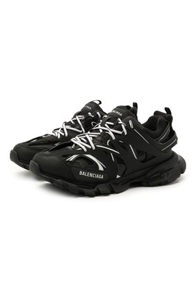 Мужские комбинированные кроссовки track BALENCIAGA черно-белого цвета, арт. 542023/W3AC1 | Фото 1