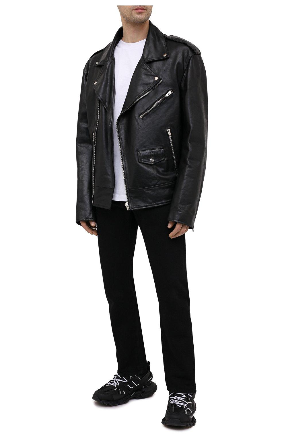 Мужские комбинированные кроссовки track BALENCIAGA черно-белого цвета, арт. 542023/W3AC1   Фото 2 (Материал внешний: Текстиль; Стили: Гранж; Материал внутренний: Текстиль; Подошва: Массивная)
