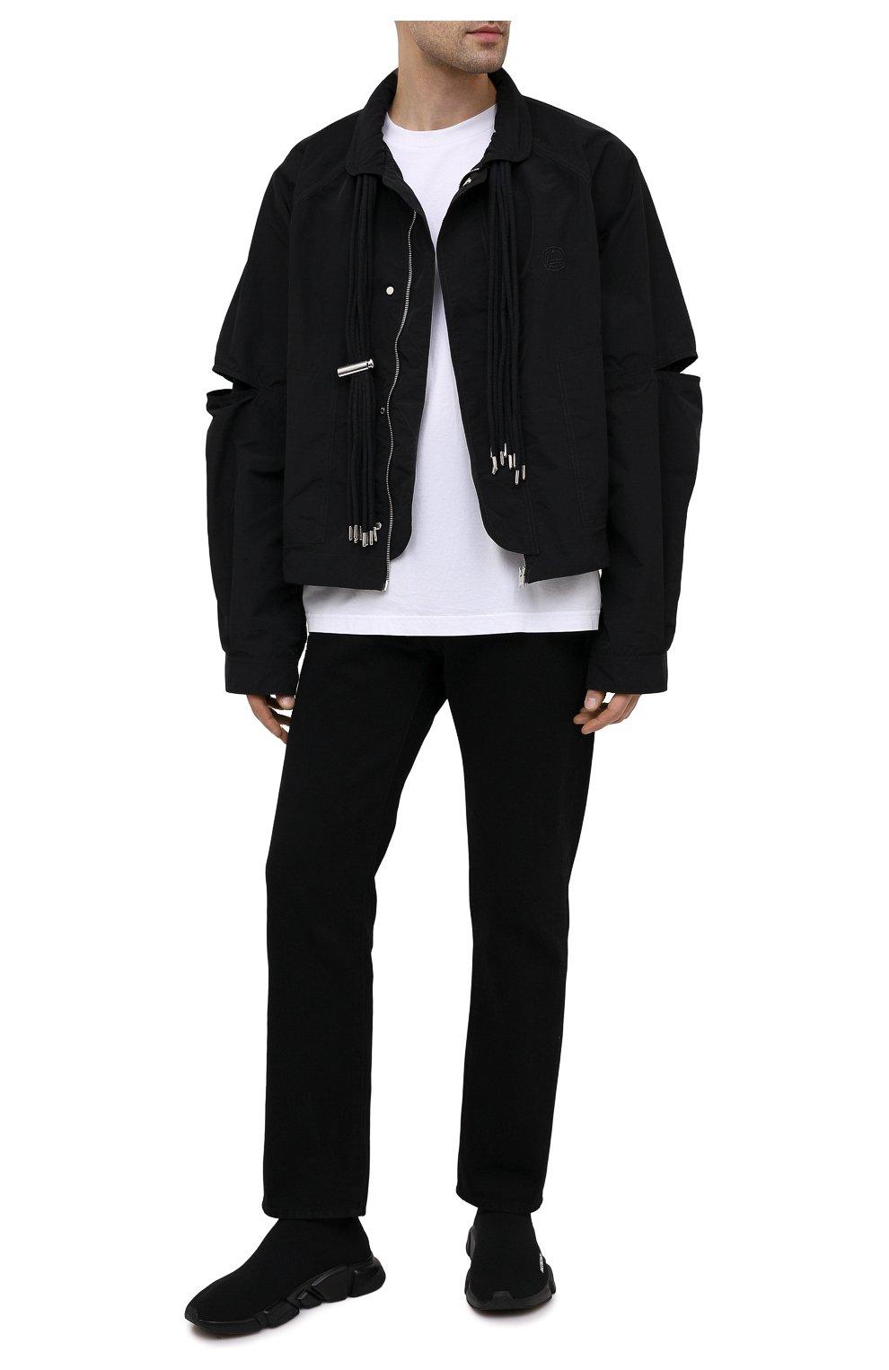 Мужские текстильные кроссовки speed BALENCIAGA черного цвета, арт. 645056/W2DBP   Фото 2 (Материал внешний: Текстиль; Стили: Гранж; Материал внутренний: Текстиль; Подошва: Массивная)