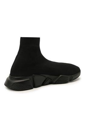 Мужские текстильные кроссовки speed BALENCIAGA черного цвета, арт. 645056/W2DBP   Фото 4 (Материал внешний: Текстиль; Стили: Гранж; Материал внутренний: Текстиль; Подошва: Массивная)