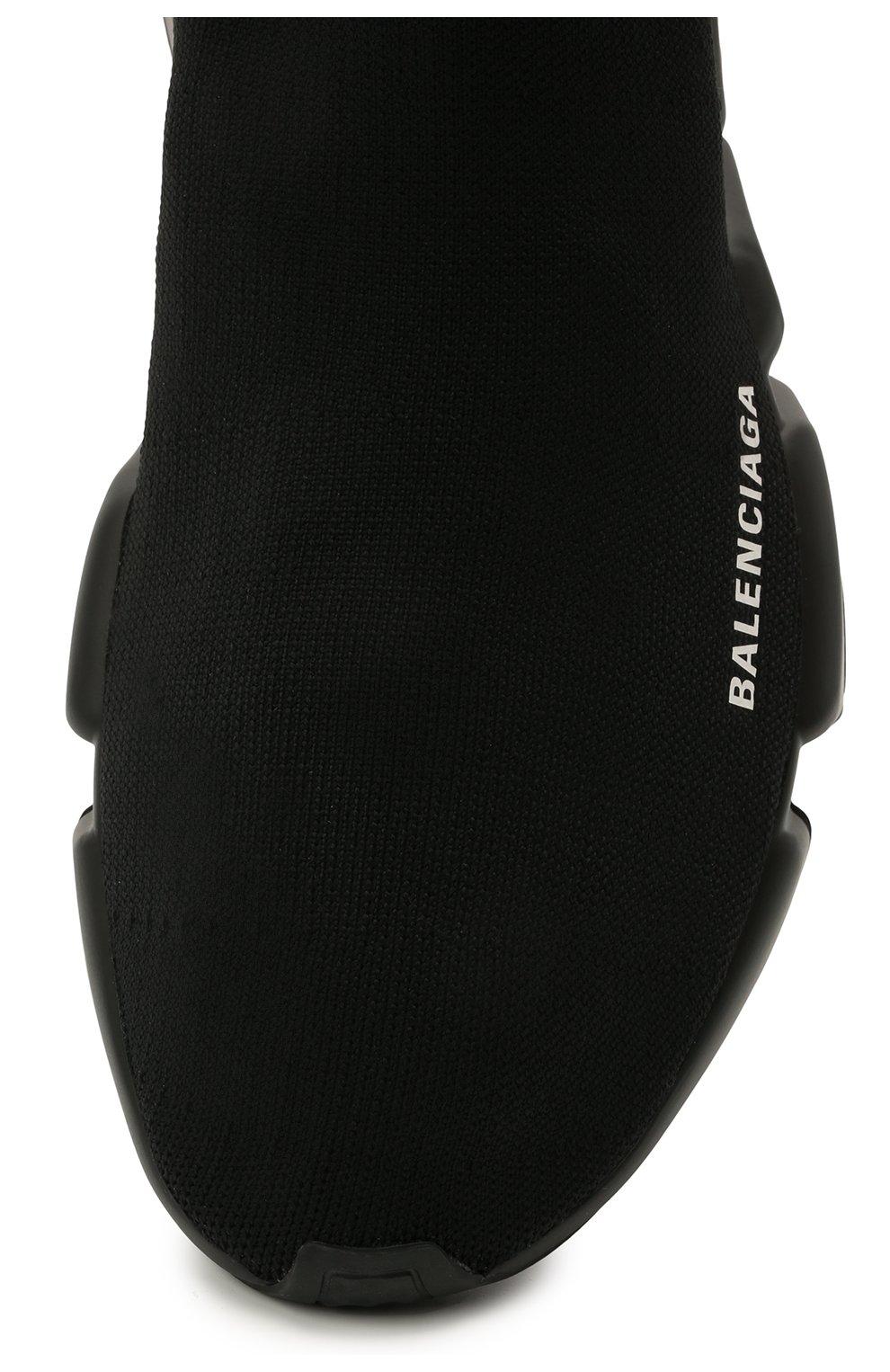 Мужские текстильные кроссовки speed BALENCIAGA черного цвета, арт. 645056/W2DBP   Фото 5 (Материал внешний: Текстиль; Стили: Гранж; Материал внутренний: Текстиль; Подошва: Массивная)