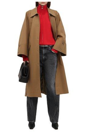 Женские джинсы BALENCIAGA темно-серого цвета, арт. 657615/TBP47 | Фото 2 (Стили: Спорт-шик; Силуэт Ж (брюки и джинсы): Широкие; Длина (брюки, джинсы): Стандартные; Материал внешний: Хлопок, Деним)