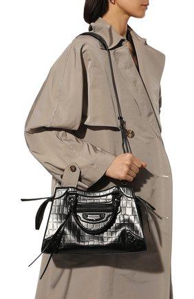 Женская сумка neo classic city s BALENCIAGA черного цвета, арт. 638521/15V67 | Фото 2 (Ремень/цепочка: На ремешке; Сумки-технические: Сумки через плечо, Сумки top-handle; Материал: Натуральная кожа; Размер: medium)