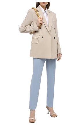 Женские брюки RALPH LAUREN светло-голубого цвета, арт. 290840152 | Фото 2