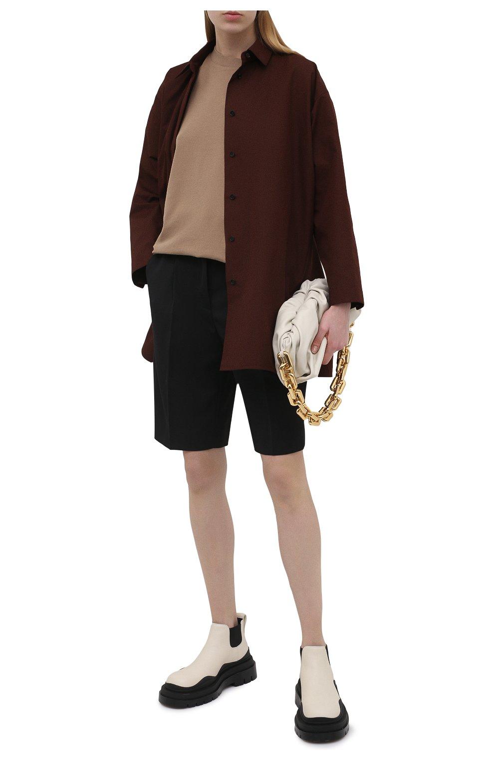 Женские кожаные ботинки bv tire BOTTEGA VENETA черно-белого цвета, арт. 630300/VBS50 | Фото 2