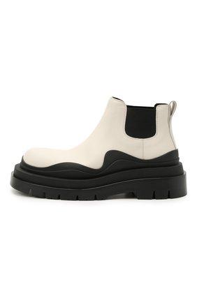 Женские кожаные ботинки bv tire BOTTEGA VENETA черно-белого цвета, арт. 630300/VBS50 | Фото 3