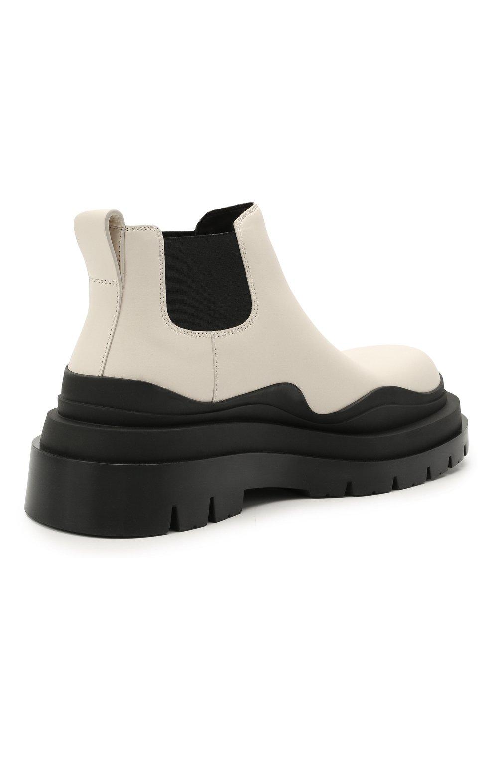 Женские кожаные ботинки bv tire BOTTEGA VENETA черно-белого цвета, арт. 630300/VBS50 | Фото 4
