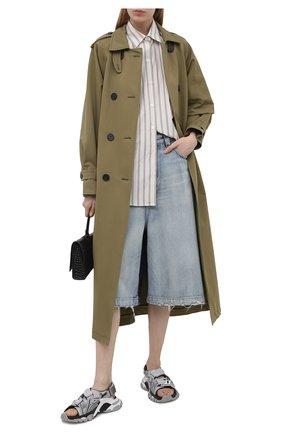 Женские текстильные сандалии track BALENCIAGA серого цвета, арт. 617543/W3AR1 | Фото 2 (Материал внутренний: Текстиль; Материал внешний: Текстиль; Подошва: Платформа)