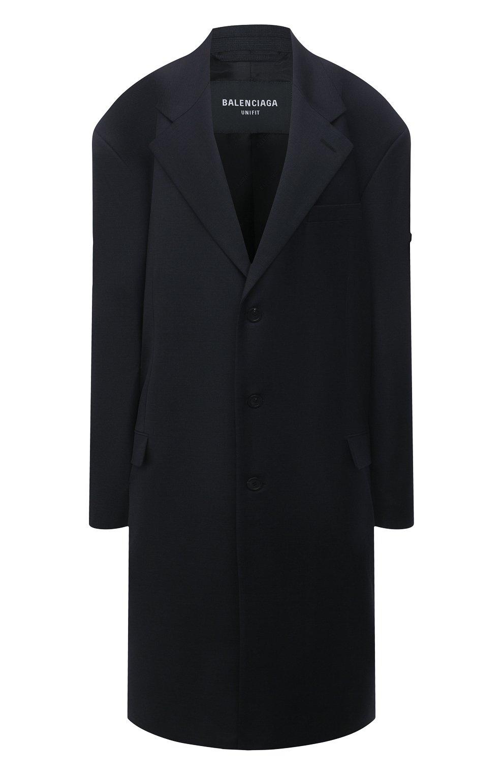 Женское шерстяное пальто BALENCIAGA черного цвета, арт. 658924/TKT08   Фото 1