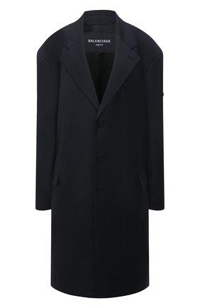 Женское шерстяное пальто BALENCIAGA черного цвета, арт. 658924/TKT08 | Фото 1