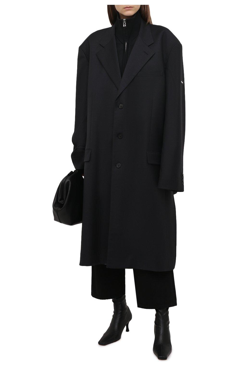 Женское шерстяное пальто BALENCIAGA черного цвета, арт. 658924/TKT08   Фото 2