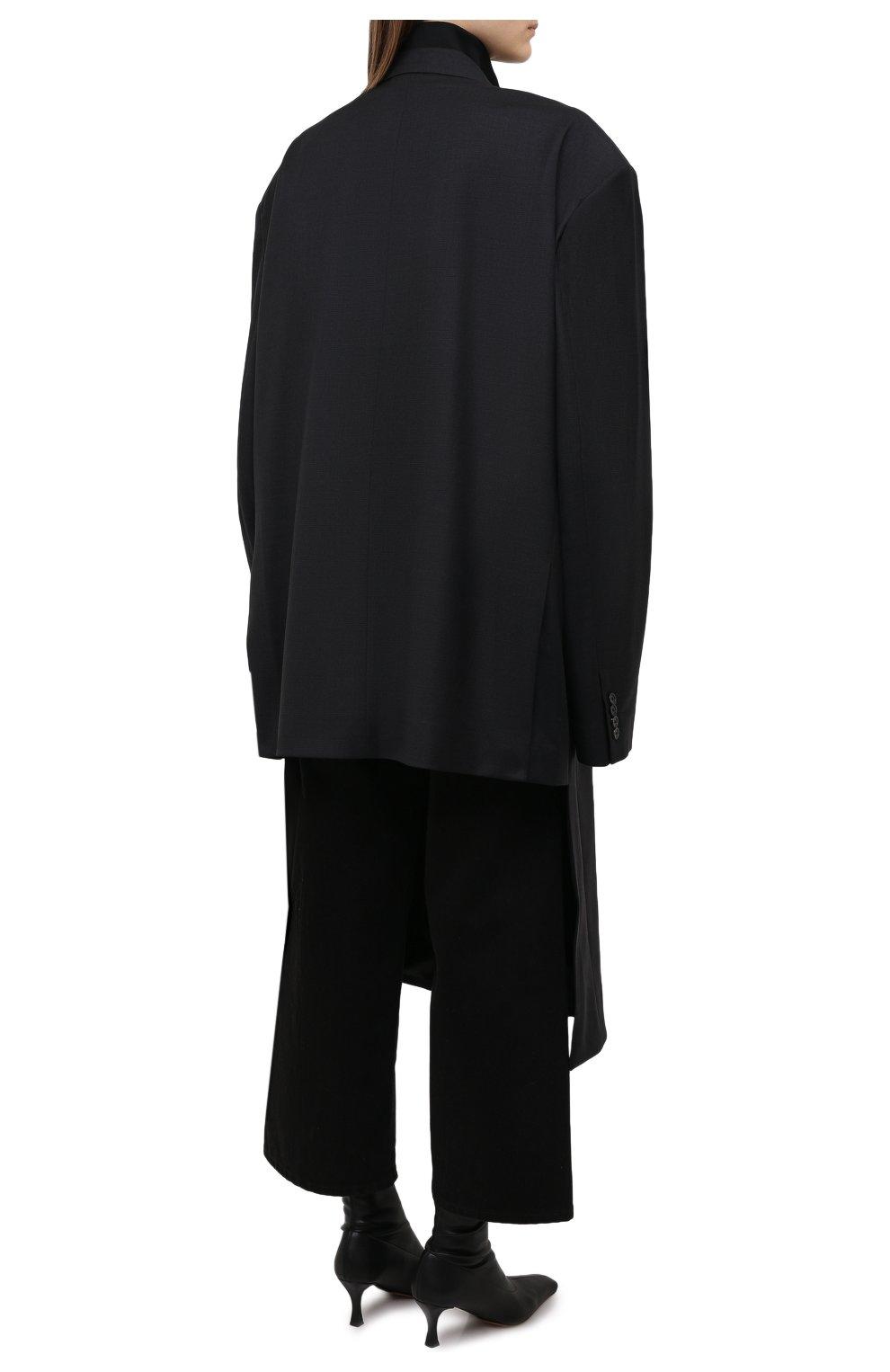 Женское шерстяное пальто BALENCIAGA черного цвета, арт. 658924/TKT08   Фото 4