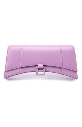 Женская сумка hourglass stretch BALENCIAGA сиреневого цвета, арт. 654942/1QJ4I | Фото 1 (Сумки-технические: Сумки через плечо; Материал: Натуральная кожа; Размер: small, medium)