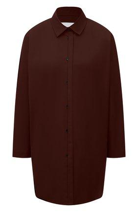 Женская хлопковая рубашка JIL SANDER коричневого цвета, арт. JSWS606905-WS244200 | Фото 1