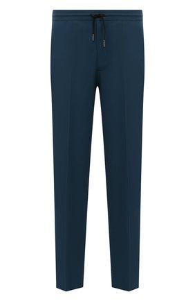 Мужские шерстяные брюки BERLUTI темно-бирюзового цвета, арт. R19TTU71-003   Фото 1