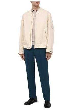 Мужские шерстяные брюки BERLUTI темно-бирюзового цвета, арт. R19TTU71-003   Фото 2