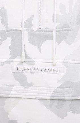 Мужской хлопковое худи DOLCE & GABBANA белого цвета, арт. G9UF2Z/G7YEB   Фото 5