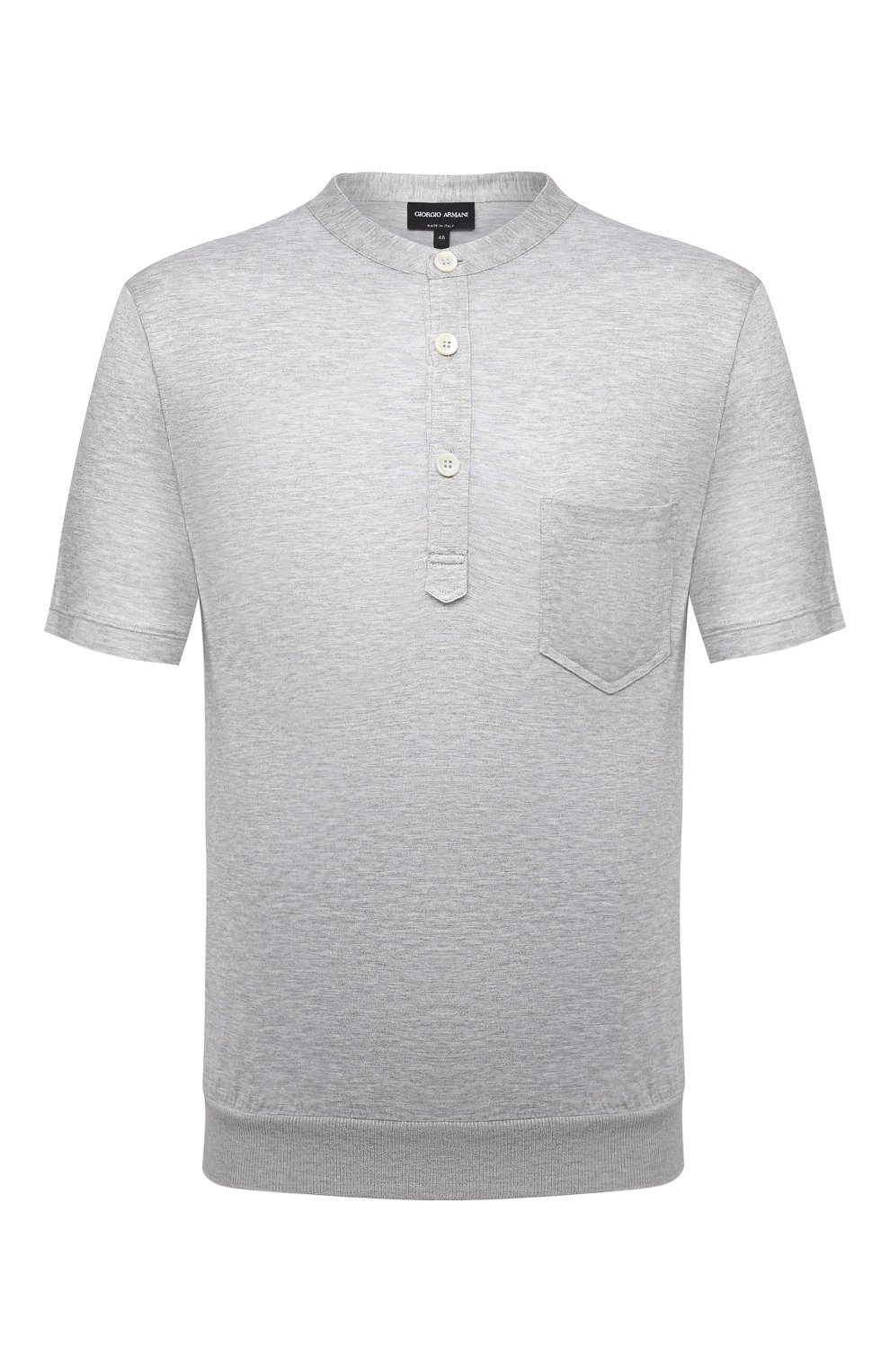 Мужская футболка из вискозы GIORGIO ARMANI серого цвета, арт. 3KSF50/SJYBZ | Фото 1