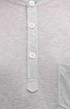 Мужская футболка из вискозы GIORGIO ARMANI серого цвета, арт. 3KSF50/SJYBZ | Фото 5