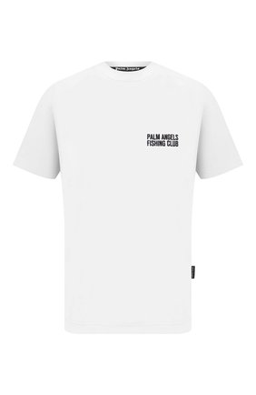 Мужская хлопковая футболка PALM ANGELS белого цвета, арт. PMAA001S21JER0010144   Фото 1