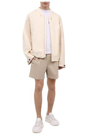 Мужская хлопковая футболка PALM ANGELS белого цвета, арт. PMAA001S21JER0010144   Фото 2