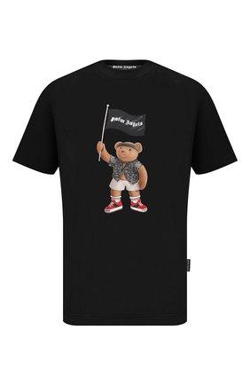 Мужская хлопковая футболка PALM ANGELS черного цвета, арт. PMAA001S21JER0191001 | Фото 1