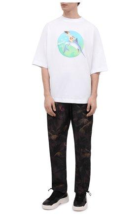 Мужская хлопковая футболка PALM ANGELS белого цвета, арт. PMAA002S21JER0010144 | Фото 2