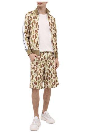 Мужские шорты PALM ANGELS бежевого цвета, арт. PMCB011S21FAB0016101   Фото 2