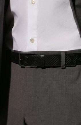 Мужской кожаный ремень BOTTEGA VENETA черного цвета, арт. 657163/V0SQ1 | Фото 2