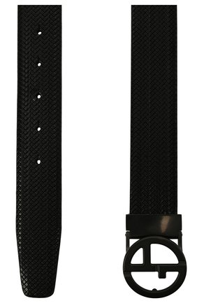 Мужской кожаный ремень GIORGIO ARMANI черного цвета, арт. Y2S264/YQL0J   Фото 2