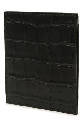 Мужской кожаный футляр для кредитных карт BALENCIAGA черного цвета, арт. 655684/1R0P3 | Фото 2