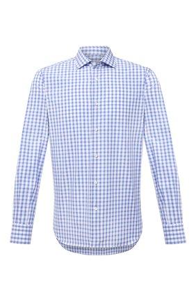 Мужская хлопковая сорочка LUCIANO BARBERA голубого цвета, арт. 105419/72044 | Фото 1