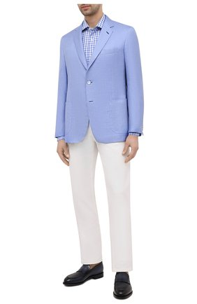 Мужская хлопковая сорочка LUCIANO BARBERA голубого цвета, арт. 105419/72044 | Фото 2