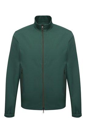 Мужская куртка LORO PIANA зеленого цвета, арт. FAI5779 | Фото 1 (Длина (верхняя одежда): Короткие; Рукава: Длинные; Материал внешний: Синтетический материал; Принт: Без принта; Стили: Кэжуэл; Кросс-КТ: Куртка, Ветровка)
