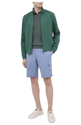 Мужская куртка LORO PIANA зеленого цвета, арт. FAI5779 | Фото 2 (Длина (верхняя одежда): Короткие; Рукава: Длинные; Материал внешний: Синтетический материал; Принт: Без принта; Стили: Кэжуэл; Кросс-КТ: Куртка, Ветровка)