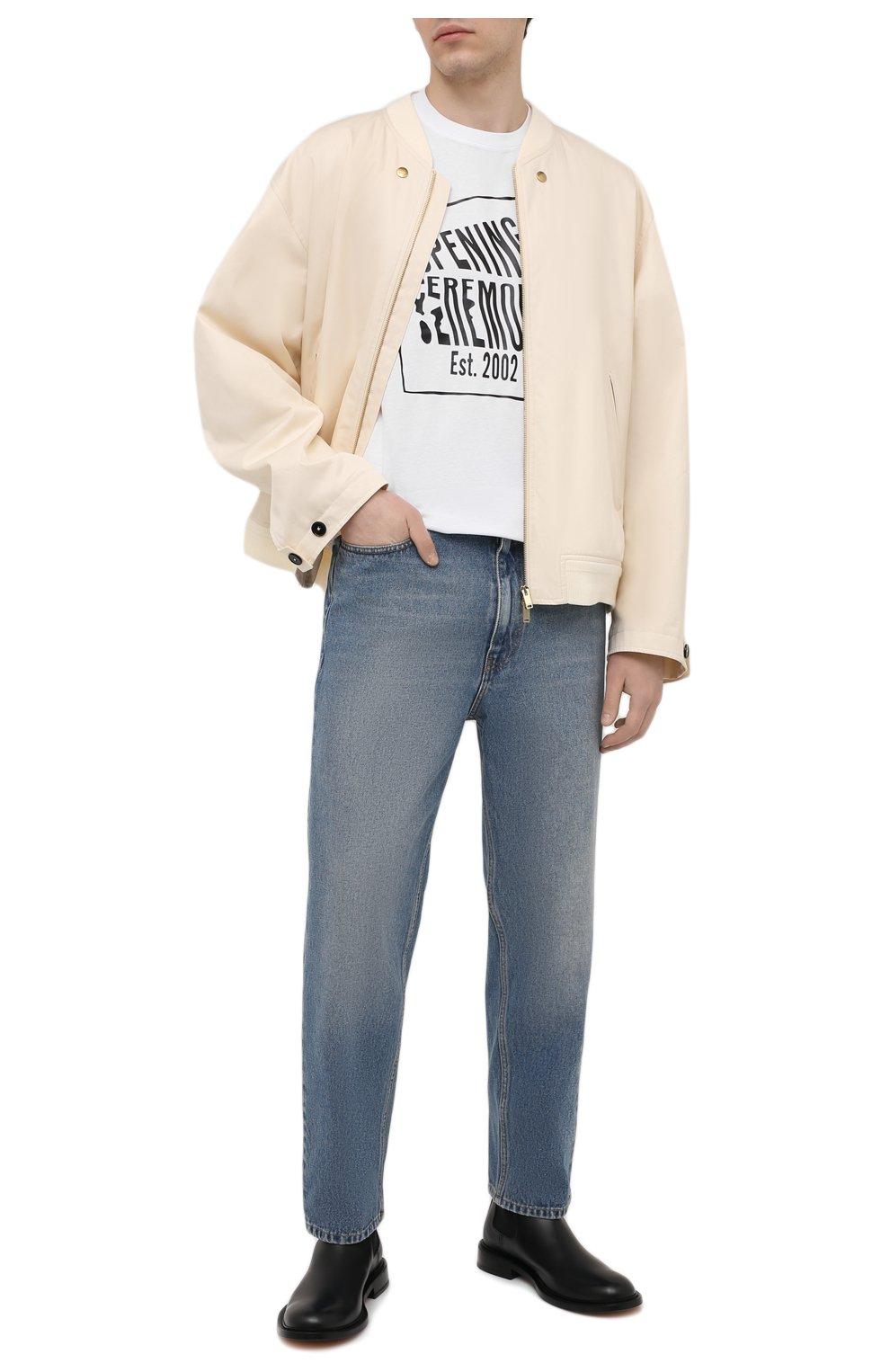 Мужская хлопковая футболка OPENING CEREMONY белого цвета, арт. YMAA001S21JER002 | Фото 2 (Рукава: Короткие; Длина (для топов): Стандартные; Стили: Гранж; Принт: С принтом; Материал внешний: Хлопок)