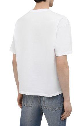 Мужская хлопковая футболка OPENING CEREMONY белого цвета, арт. YMAA001S21JER002 | Фото 4 (Рукава: Короткие; Длина (для топов): Стандартные; Стили: Гранж; Принт: С принтом; Материал внешний: Хлопок)