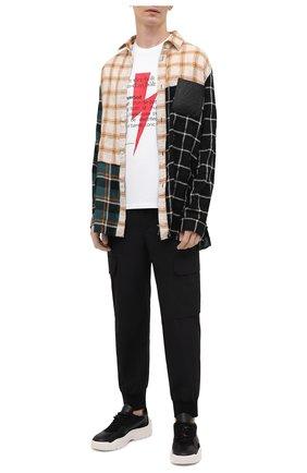 Мужская хлопковая футболка NEIL BARRETT белого цвета, арт. PBJT897S/Q514S | Фото 2