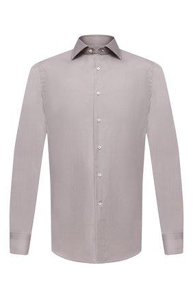 Мужская хлопковая сорочка CANALI серого цвета, арт. X58/GA01222 | Фото 1