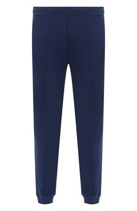 Мужские хлопковые джоггеры CORNELIANI синего цвета, арт. 87G585-1125060/00 | Фото 1 (Длина (брюки, джинсы): Стандартные; Материал внешний: Хлопок; Силуэт М (брюки): Джоггеры; Стили: Спорт-шик; Мужское Кросс-КТ: Брюки-трикотаж)