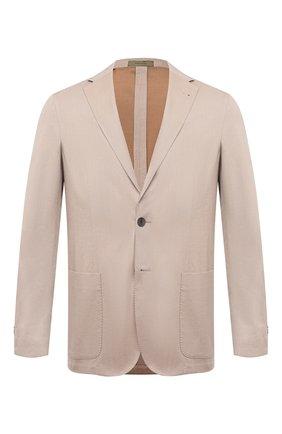 Мужской пиджак CORNELIANI бежевого цвета, арт. 87X576-1114503/90 | Фото 1