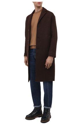 Мужские джинсы BRUNELLO CUCINELLI темно-синего цвета, арт. M0Z37Q3040 | Фото 2 (Материал внешний: Хлопок, Деним; Длина (брюки, джинсы): Стандартные; Силуэт М (брюки): Прямые; Стили: Кэжуэл)